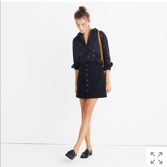 dc908a192c Madewell Skirts | Metropolis Snap Jean Skirt Rawley Black | Poshmark